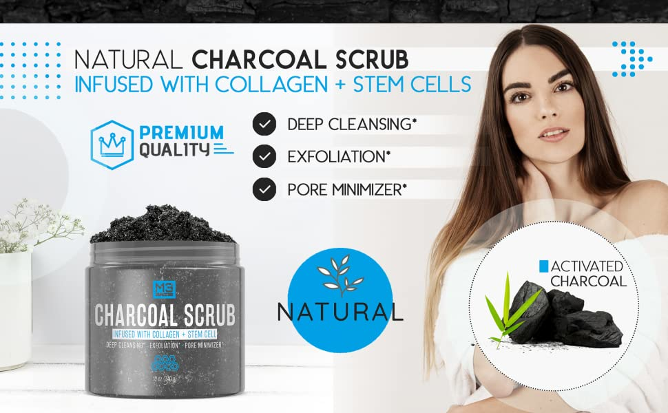 Charcoal Collagen Stem Cell Face Scrub - Bed & Bath