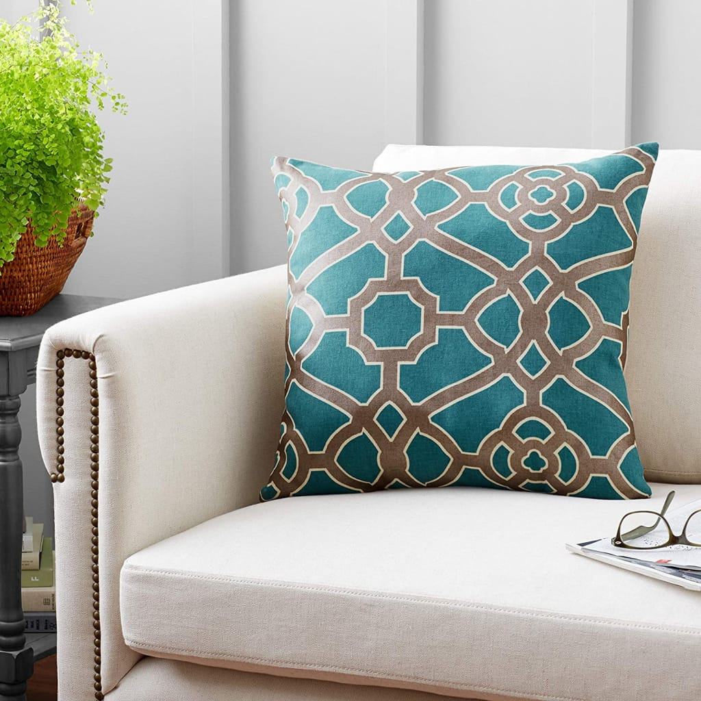 Contemporary Geometric Throw Pillow - Bed & Bath