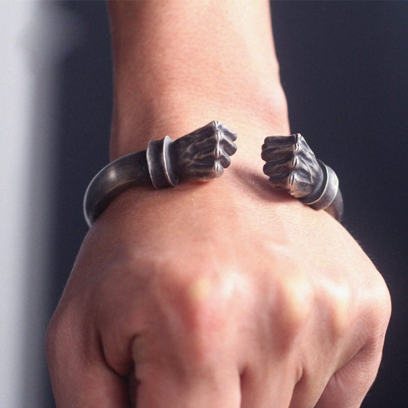 Strong Man Fist Men's Bracelet - Gifts For Him Under $5,000