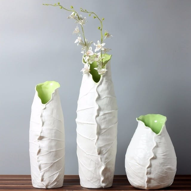Lotus Leaf Abstract Flower Vase - Home & Garden
