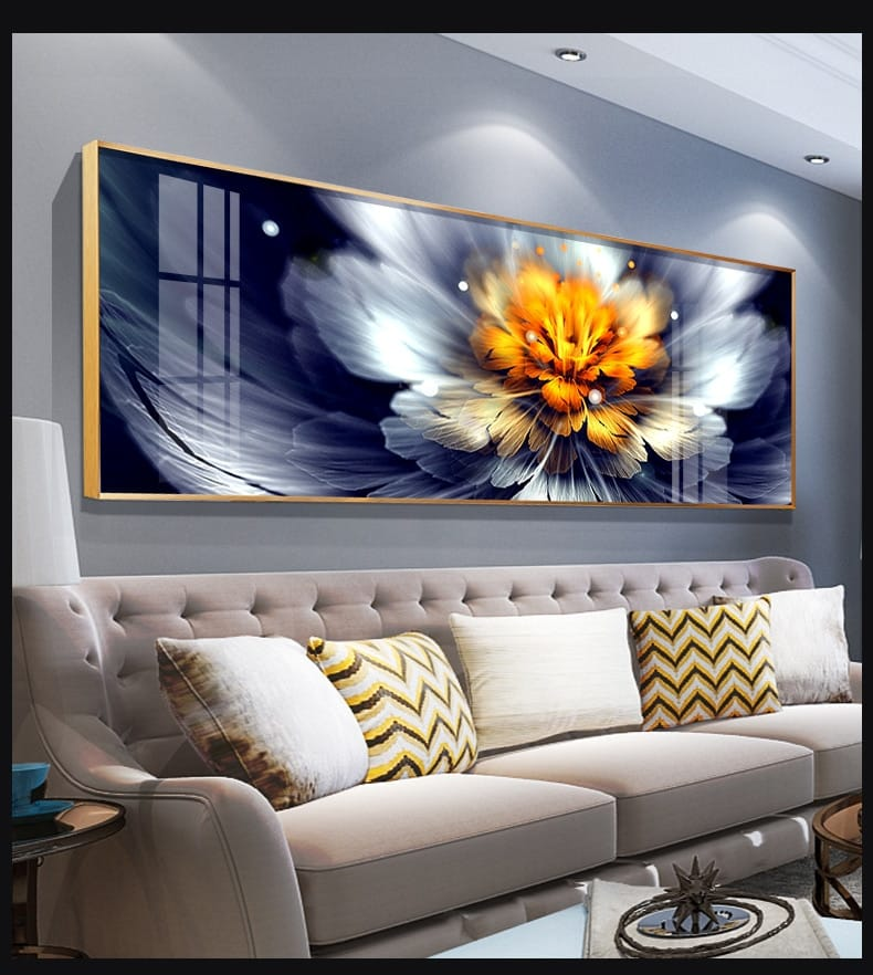 Water Blossom Crystal Porcelain Framed Canvas Painting - Canvas Paintings Under $5,000