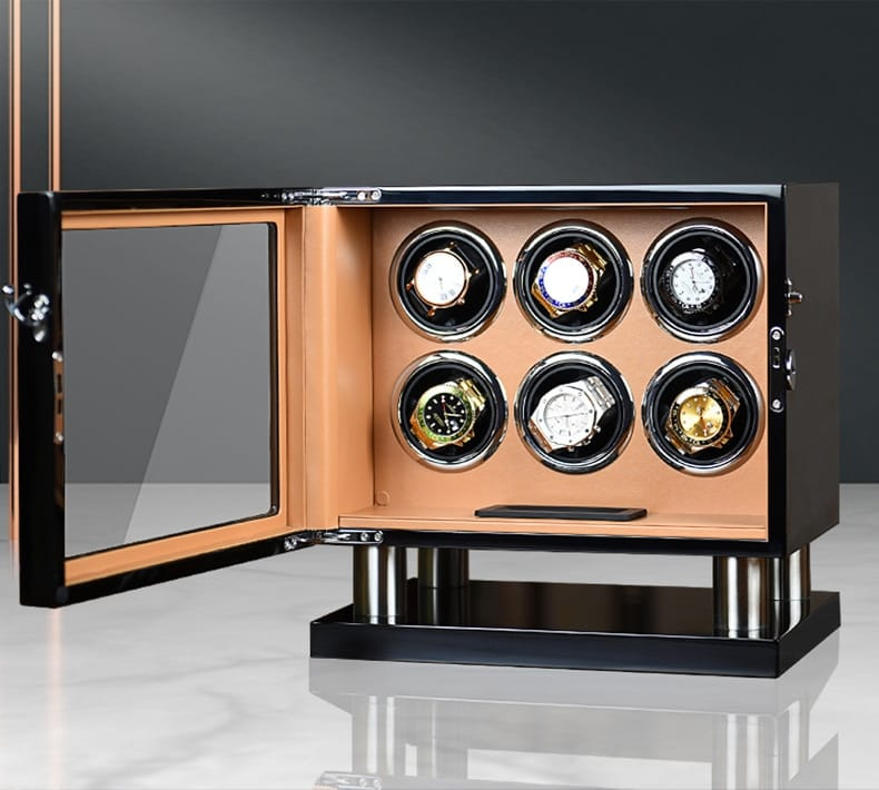 Automatic LCD Rotary Watch Display Case