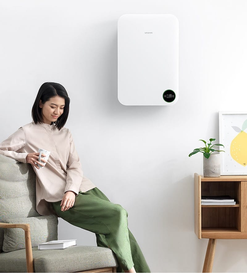 Intelligent Silent Wall Home Air Purifier - Home Electronics