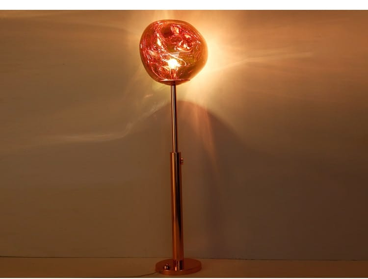 Stained Glass Lava Orb Floor Lamp - Lamps & Lighting