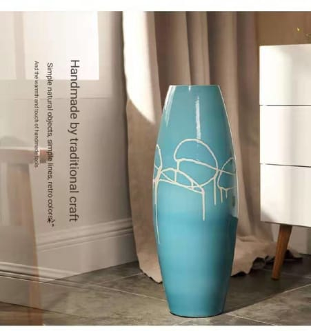 luxury tall floor flower vase