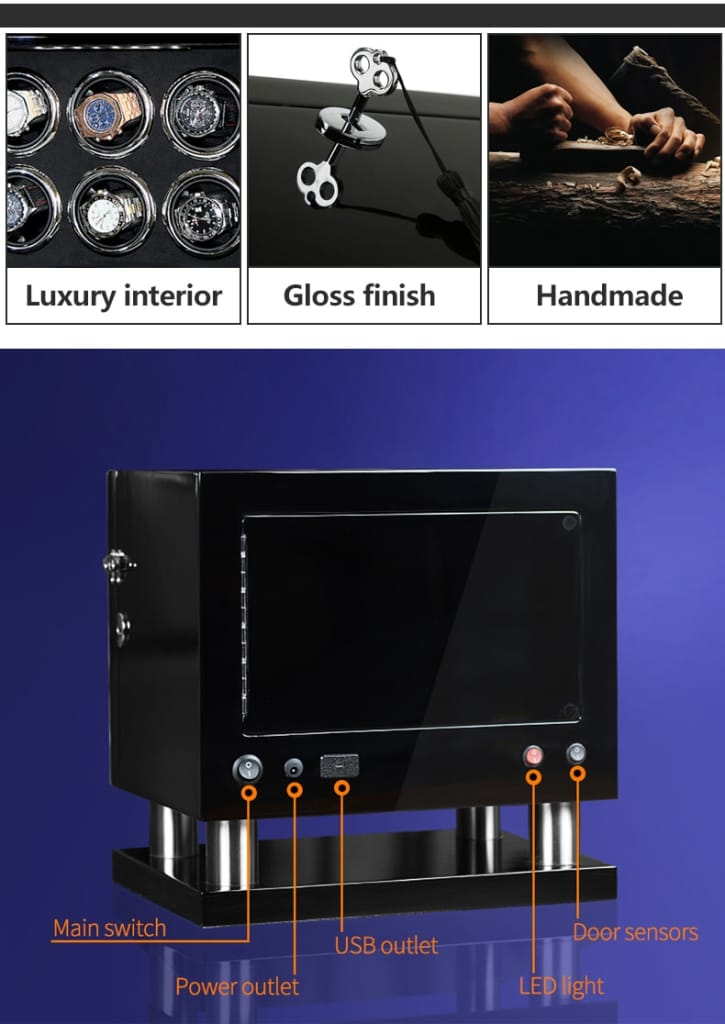 Automatic LCD Rotary Watch Display Case - Home Electronics