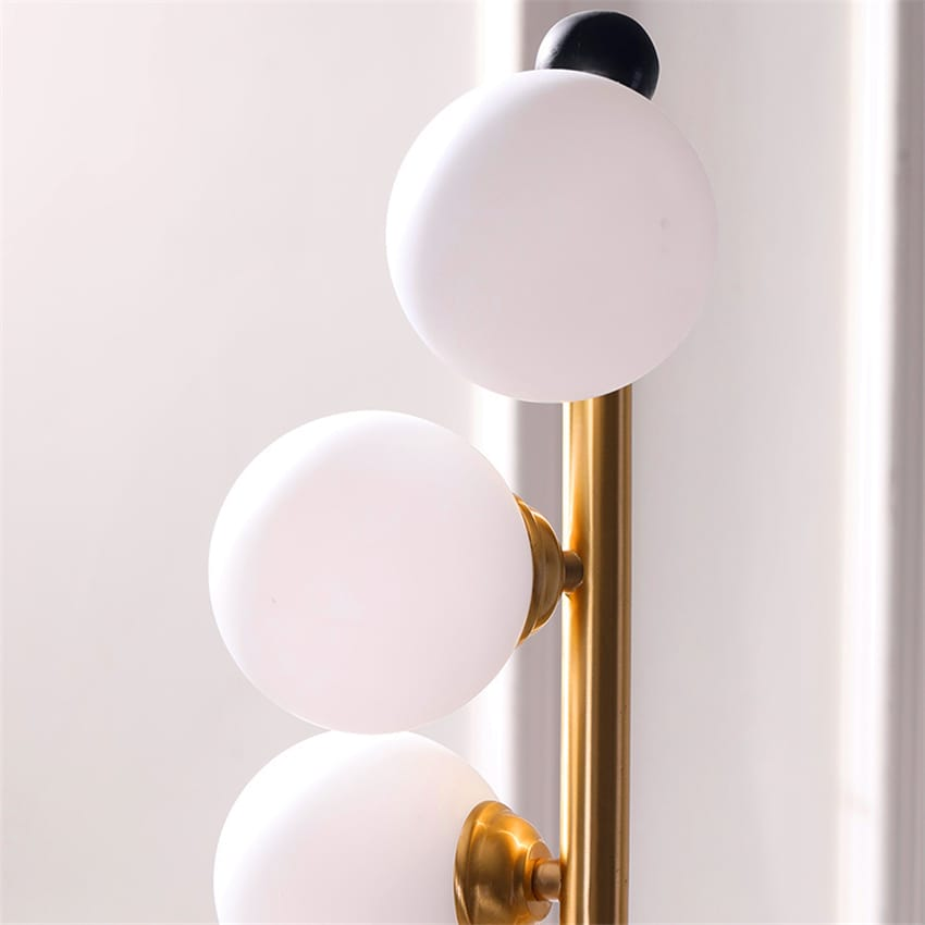 Marble Frosted Glass Orbs Floor Lamp - Lamps & Lighting