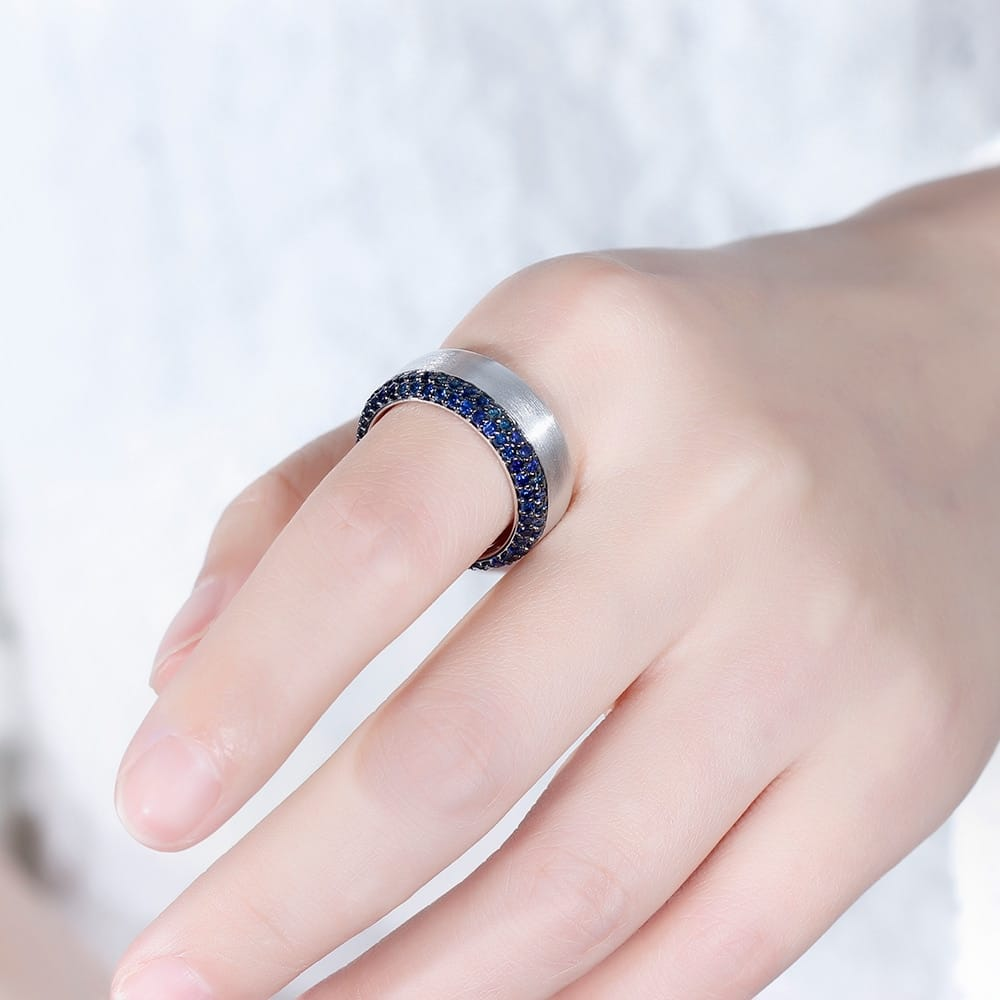 pure sapphire moissanite gem ring - novariancreations.com