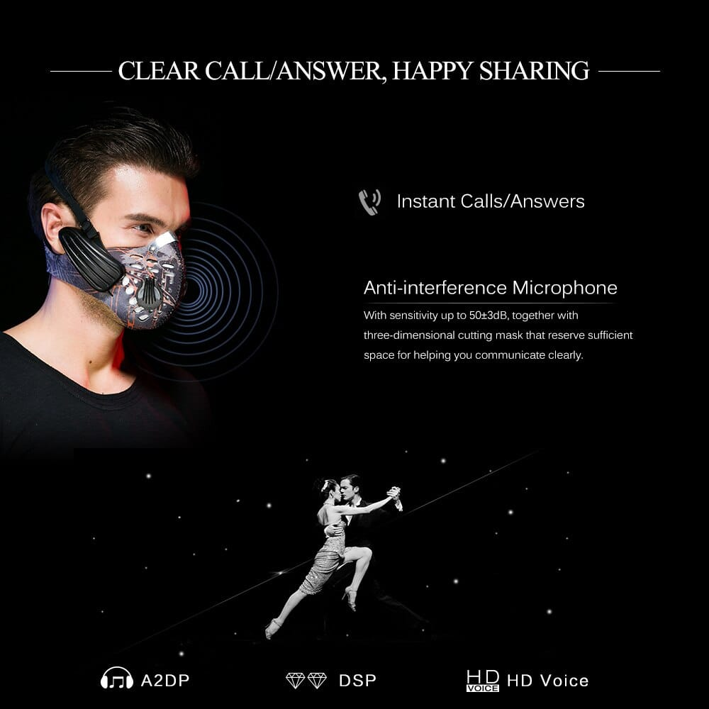 Conduction Headphone Sports Mask