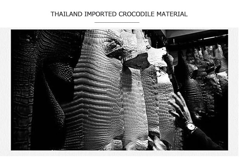 Thailand Imported Crocodile Skin Leather Clutch Wallet Bag - Gifts For Him Under $500