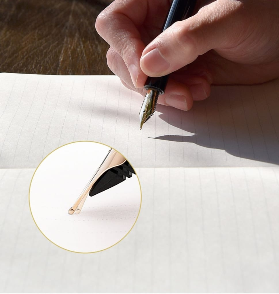 14K Gold Luxury Calligraphy Signature Pen - Novarian Creations