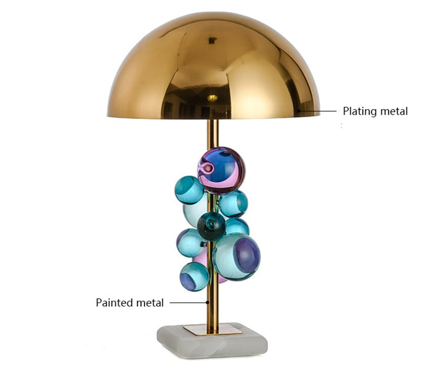 Crystal Bubbles Orb Modern Table Lamp - Table Lamps Under $1,000