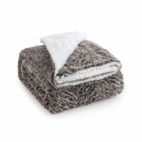 Hypoallergenic Sherpa Throw Blanket - Bed & Bath