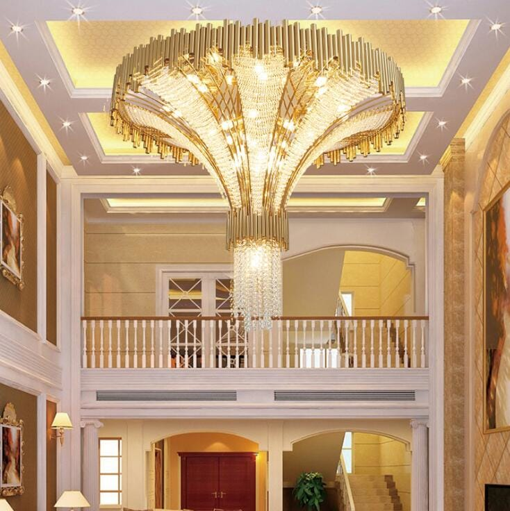 Crystal Duplex Villa Post-modern Ceiling Lamp - Lamps & Lighting