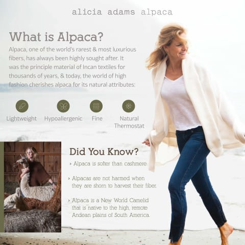 Luxury Alpaca Wool Throw Blanket - Bed & Bath