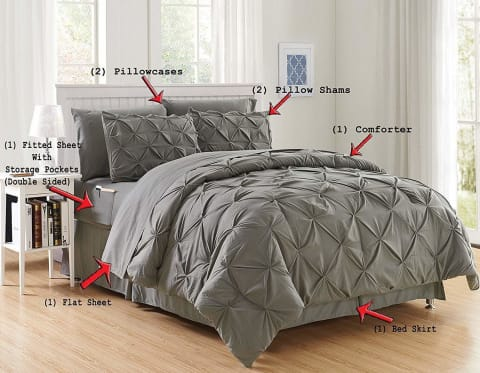 Luxury Micro-fiber Comforter 8PC Bedding Set - Novarian Creations