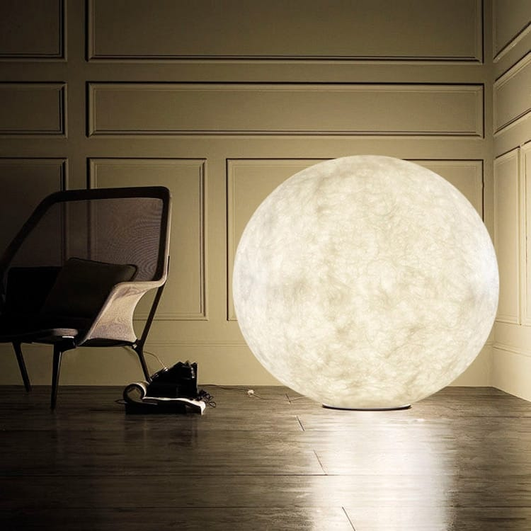 Modern Glass Orb Moon Lamp - Lamps & Lighting