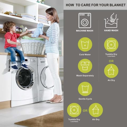 how to take care of throw blankets