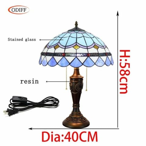 Bohemian Mosaic Stained Glass Table Lamp - Lamps & Lighting