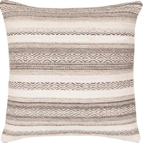 Sand Brown Mocha Poly Throw Pillow - Bed & Bath