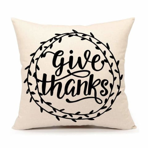 give thanks throw pillow