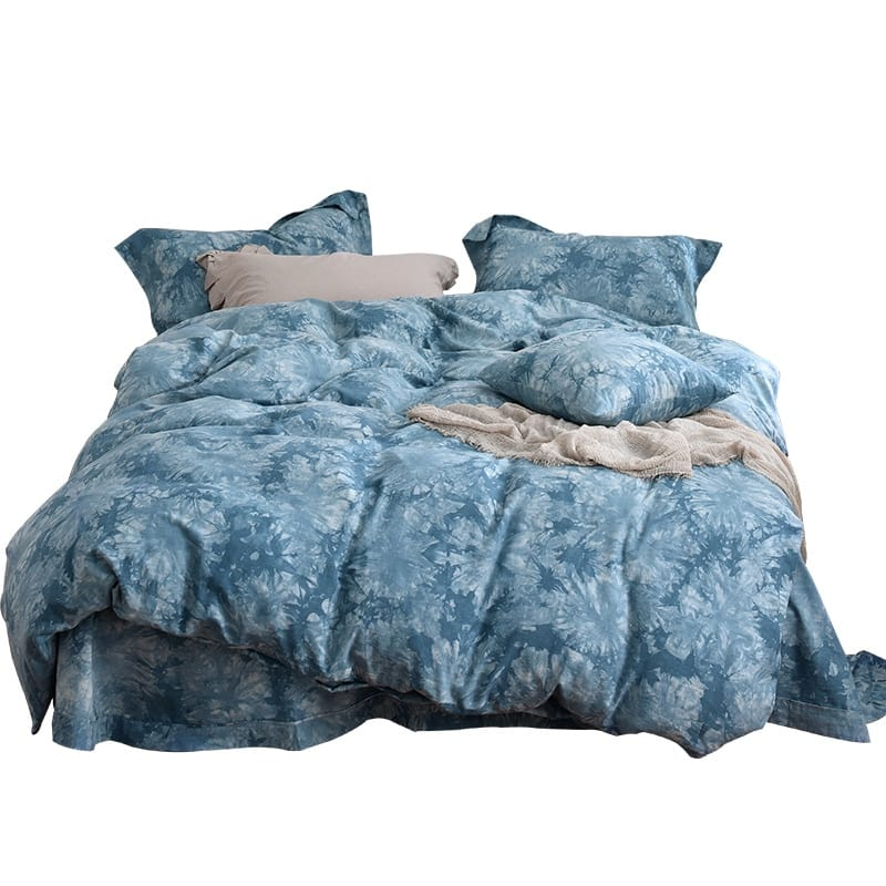 Cloud Wind Tie-dyed Viscose Cotton 4PC Bedding Set - Novarian Creations