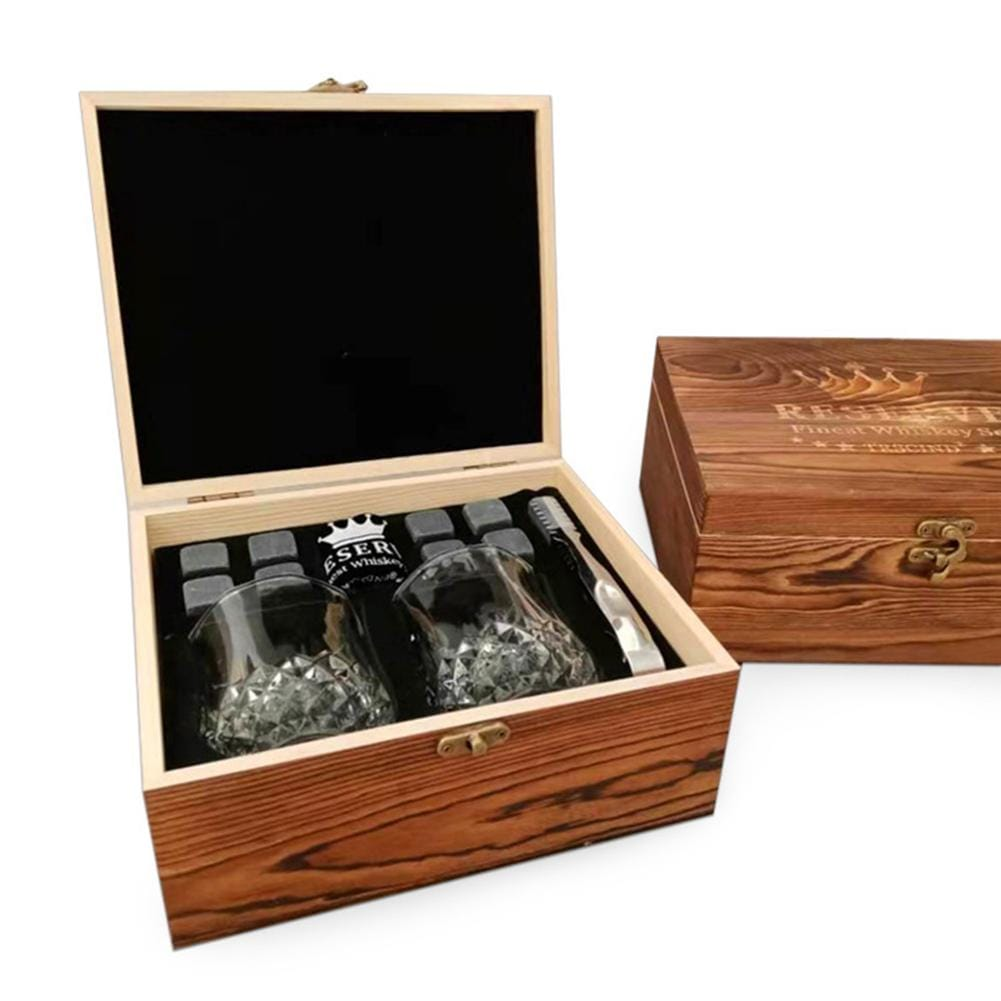 Shot Glass Wooden Gift Set Box - novariancreations.com