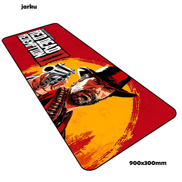 900x300x2mm Red Dead Redemption 2 mouse pad