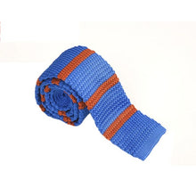 Stripe Pattern Knitted Ties - Slim Cut