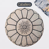 The Blue Pearl Shop Premium Handcrafted Caballero Leather Pouf