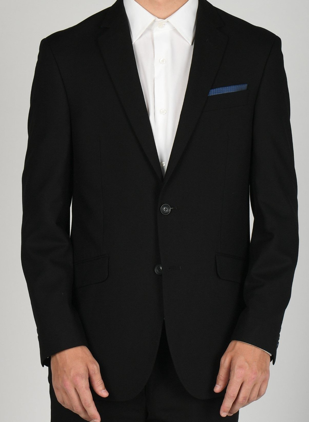 Dark Grey Double Breasted Suit 38/32 Clothing, Shoes & Accessories