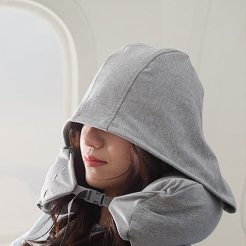 Soft Removable Hooded U-pillow Body Travel Neck Pillow