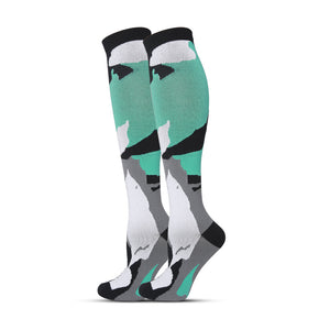 Unisex Medical Leg Support Knee High Compression Socks For Travel Sports