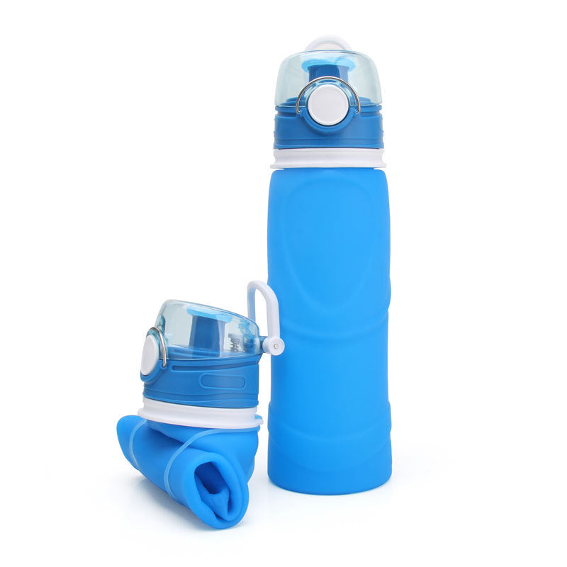Agatha Travel Silicone Sport Water Bottle Sky Blue