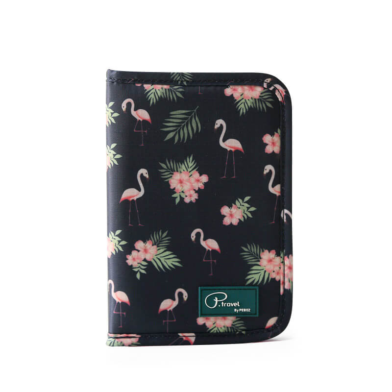 Agatha Travel Accessories Document Holder Wallet Black Flamingo