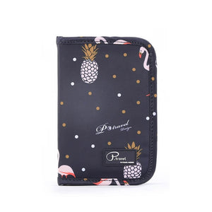 Agatha Travel Accessories Document Holder Wallet Black Pineapple