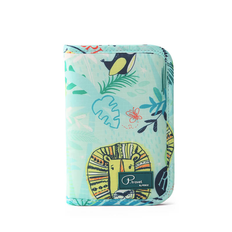 Agatha Travel Accessories Document Holder Wallet Green Animal
