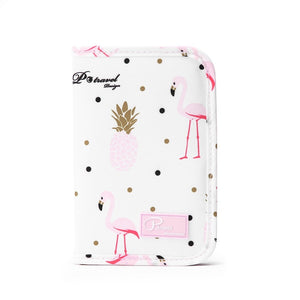 Agatha Travel Accessories Document Holder Wallet White Flamingo