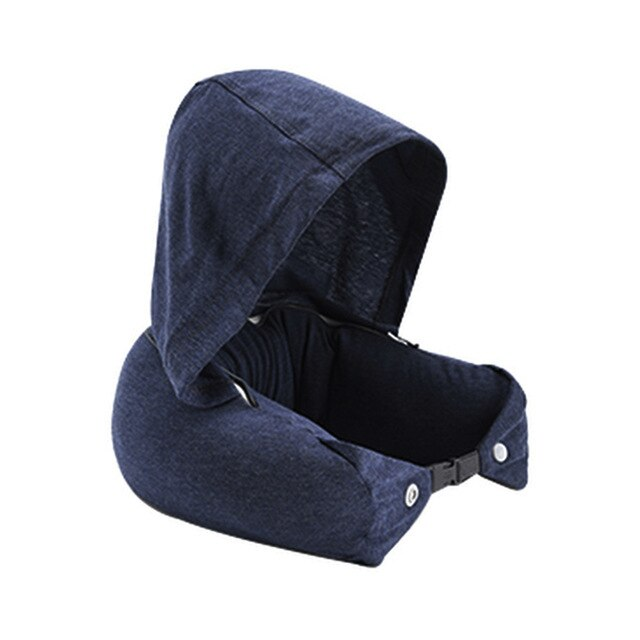 Agatha Travel Travel Neck Hood Pillow Deep Blue