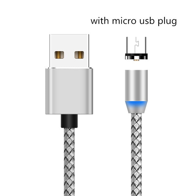 Magnetic Micro USB Charger Cable Type C Charging Wire