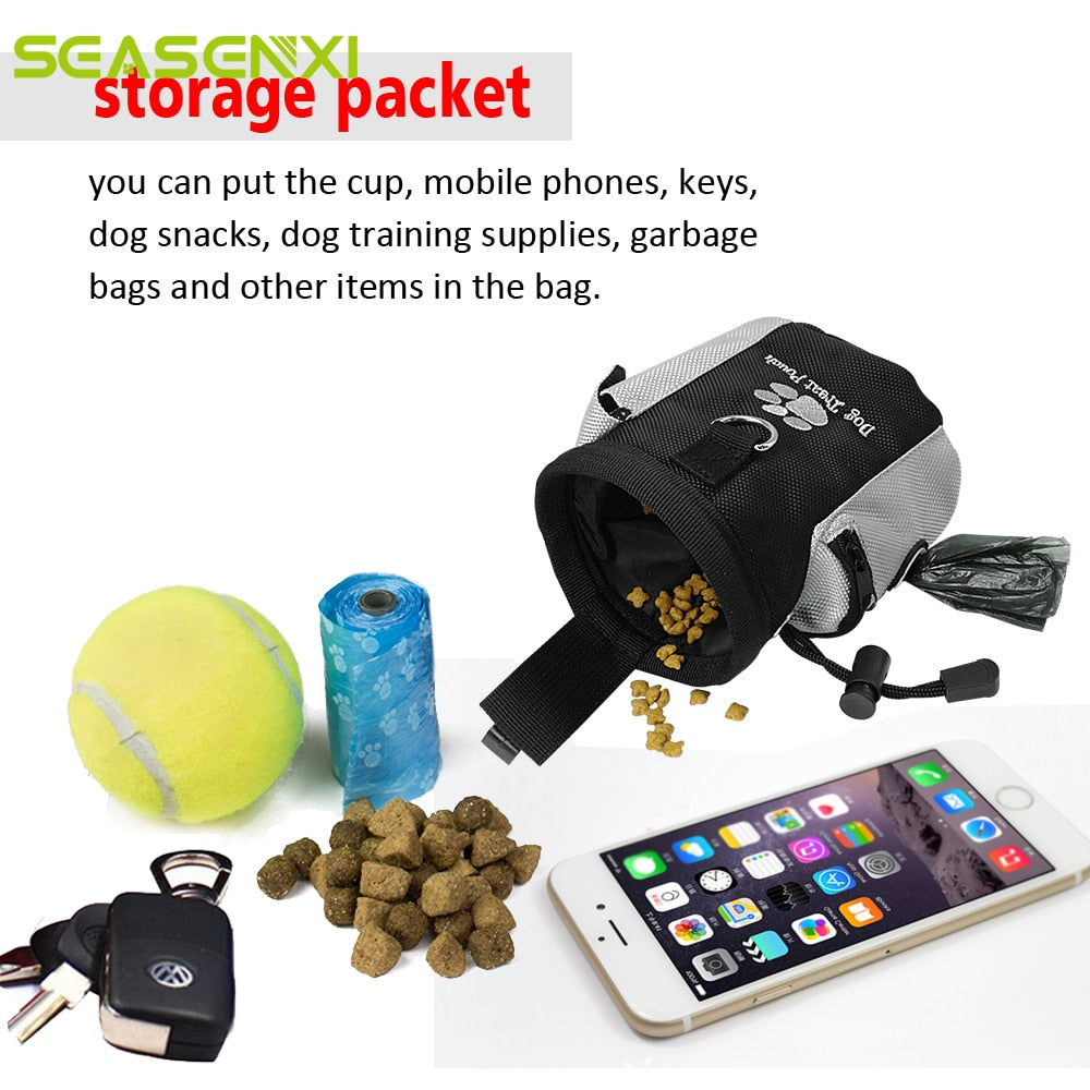 Portable Pet Treat Pouch Dog Training Waist Bag