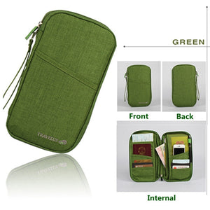 Agatha Travel Luggage Travel Document Holder Green