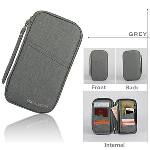 Agatha Travel Luggage Travel Document Holder Gray