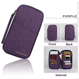 Agatha Travel Luggage Travel Document Holder Purple