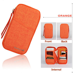 Agatha Travel Luggage Travel Document Holder Orange