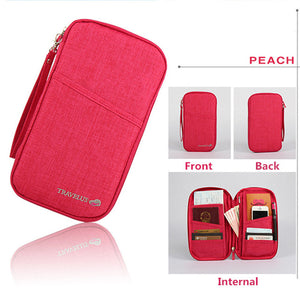 Agatha Travel Luggage Travel Document Holder Peach
