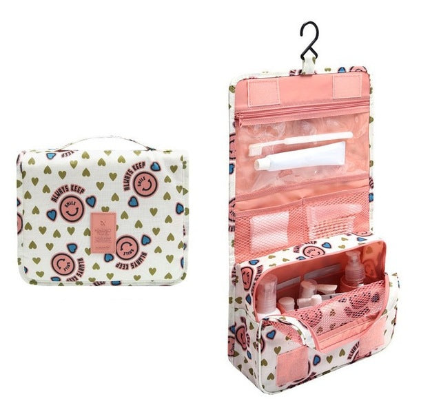 Agatha Travel Accessories Toiletry Bags Pink Smile