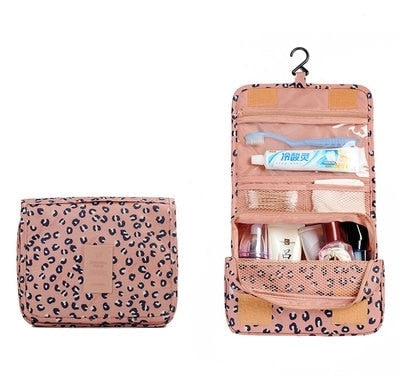 Agatha Travel Accessories Toiletry Bags Pink Leopard