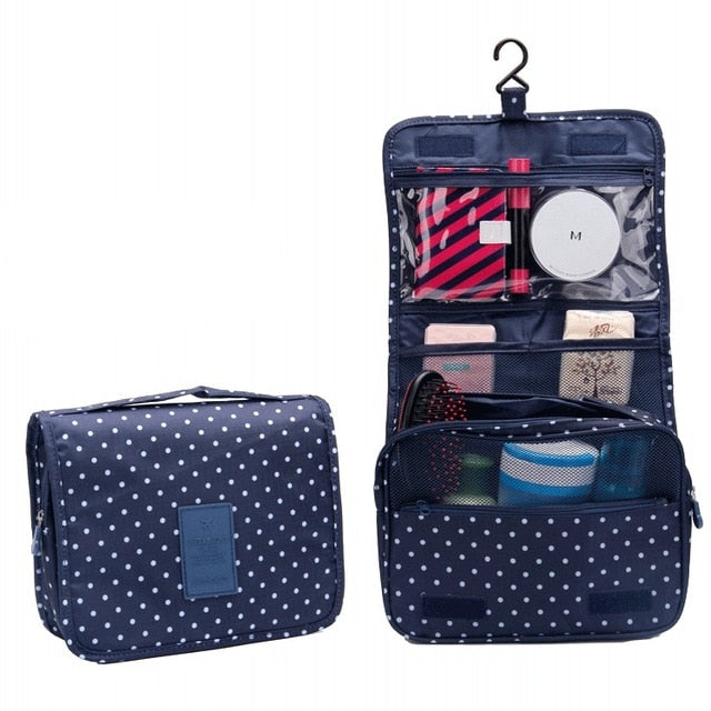 Agatha Travel Accessories Toiletry Bags Navy Dot