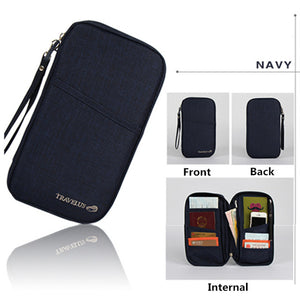 Agatha Travel Luggage Travel Document Holder Navy